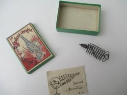 """Jeu Ancien/""""La Bouteille Infernale """"/Jeu De Société / Casse-tête Et Solution Du Jeu / Vers 1880-1900 JE170 - Brain Teasers, Brain Games"""