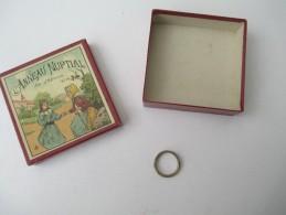 """Jeu Ancien/""""Anneau Nuptial """"/Jeu De Société /anneau Et Solution Du Jeu / Vers 1880-1900 JE148 - Brain Teasers, Brain Games"""