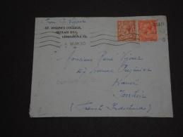 GRANDE-BRETAGNE – Env L'Indochine (French Indichina) Hanoï – Rare Destination - Détaillons Collection - N° 17385 - 1902-1951 (Rois)