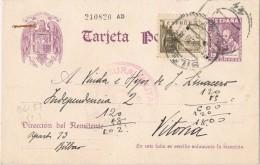 18588. Entero Postal BILBAO 1939. CENSURA Militar, Guerra Civil. - Enteros Postales