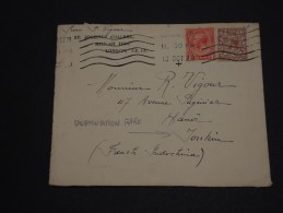 GRANDE-BRETAGNE – Env L'Indochine (French Indichina) Hanoï – Rare Destination - Détaillons Collection - N° 17388 - 1902-1951 (Rois)