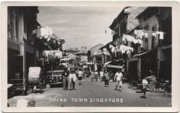 SINGAPORE 1940 China Town - Real Photo - Singapur