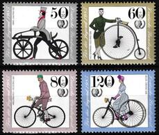 Série De 4 Timbres-poste Gommés Surtaxés Neufs** - Histoire De La Bicyclette - N° 1074-1075-1076-1077 (Yvert) - RFA 1985 - [7] Federal Republic