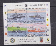 Uruguay 1994 Navy Day / Ships M/s ** Mnh (30994) - Uruguay