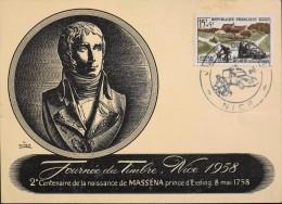 FR. 1958 - Journée Du Timbre - Nice Le 17.03.1958 - 2e Cent. De La Naissance De Masséna - En Parfait Etat - - Stamp's Day
