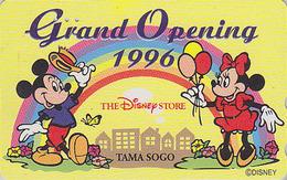 Télécarte Japon / 110-175702 - DISNEY STORE GO * 3000 EX * - MICKEY & MINNIE Ballon Balloon 1996 - Japan Phonecard - Disney