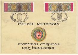4285FM- KING MATTHIAS CORVINUS' MISSAL, SHEETLET, JOINT ISSUE, 1993, HUNGARY-BELGIUM - Joint Issues