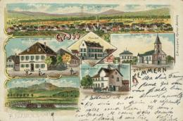 DE KEMMERN / Pfarrhof, Kirche Und Schule, Kreuzberg Und Kapelle, Leichts Brauhaus / CARTE COULEUR - Sonstige