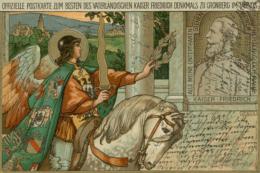 DE KRONBERG / Offizielle Postkarte Zum Besten Des Vaterlandischen Kaiser Friedrich Denkmals Zu Cronberg / CARTE COULEUR - Kronberg