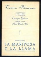 Barcelona. Teatro Poliorama. *Compañía Enrique Guitart...* Impreso Díptico 1941. Meds: 112x161 Mms. - Programas