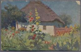 E.Vrzheshch  E. Wrzeszcz Chaumiere Au Solen  About 1920y. Russia Painters  C664 - Russia