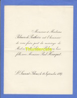 FAIRE PART MARIAGE PALMERS DE PONTHIERE LAURE PAUL HANQUET SAINT ST LAURENT GLONS 1897 - Huwelijksaankondigingen