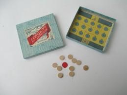 """Jeu Ancien/""""L'Evasion Difficile""""/Jeu De Société /Tapisde Fond De Boite, 11 Pions Et Régle Du Jeu/ Vers 1880-1900   JE145 - Group Games, Parlour Games"""