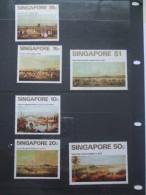 SINGAPORE PAINTINGS OF VIEWS SET MINT HINGED 1971 - Singapore (1959-...)