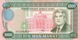 TURKMENISTAN 1000 MANAT 1995 P-8 UNC [ TM201a ] - Turkmenistan