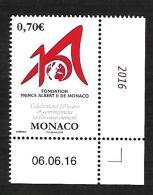 Monaco 2016 - Yv N° 3046 ** - 10 ANS DE LA FONDATION PRINCE ALBERT II - Neufs