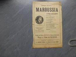 Maroussia, René De Buxeuil (né à Buxeuil, Vienne), Partition Ancienne ; Ref PA 05 - Partitions Musicales Anciennes