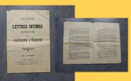 Guerre 14-18 Anti-Guillaume, Lettres Intimes Guillaume à Augusta, Pierre Ponce ; Ref 590 VP 16 - Historische Documenten