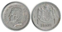 Monaco - 1 Franc (ND) 1943 - 1922-1949 Louis II