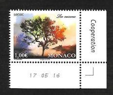 Monaco 2016 - Yv N° 3044 ** - SEPAC - LES SAISONS ** (coin Daté) - Unused Stamps