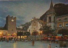 Italy Taormina Piazza San Agostino Notturno