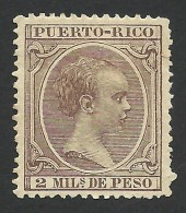 Puerto Rico, 2 M. 1892, Sc # 84, MH - Puerto Rico
