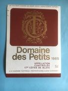 1134 -  Domaine Des Petits 1985 Premières Côtes De Blaye - Bordeaux