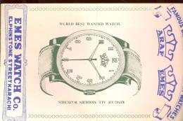 Buvard Horlogerie   Pakistan - Buvards, Protège-cahiers Illustrés