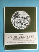 1141 -  Château Gravette 1984 Entre-Deux-Mers - Bordeaux