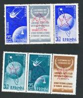 Roumanie - Espace, Satellite - Surchargé Bruxelles 1958 Exposition Universelle