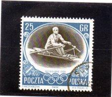 B - 1956 Polonia - Olimpiadi Di Melbourne - Canottaggio