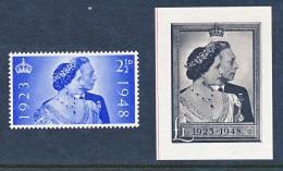 1948 Noces D'argent George VI - Black Print With Gum. - 1902-1951 (Könige)