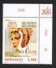 Monaco 2015 - Yv N° 2956 ** - LES FILMS DE GRACE KELLY - LE CYGNE - Neufs