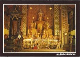 TH.- Thailand. The Principal Buddha Image Of Phratat Hariphunchai Temple, Lamphun Province North Thailand. 2 Scans. - Thailand