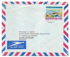 ZAIRE--1972--lettre De Kinshasa  Pour Bruxelles (Belgique)--timbre Barrage Seul Sur Lettre - Zaïre