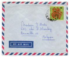 RWANDA--Lettre De Kigali Pour Bruxelles (Belgique)--timbre Rhododendron (fleur) Seul Sur Lettre - Rwanda