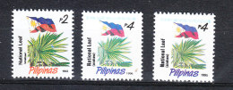 Philippines   -   1993-96.  Palma Nazionale.  National Palm  And Flag. Different Date.  MNH - Vegetazione