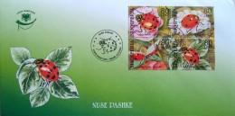 Albania Stamps 2004. ALBANIAN FAUNA - Ladybug Ladybird Coccinellidae Beetle Insects. FDC Set MNH. - Albania