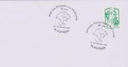 Félins : Poitiers (Vienne) 80 Ans Amicale Philatélique Poitevine (19 & 20 -09-2015) (tigre Ornement  L'hôtel De Ville) - Raubkatzen