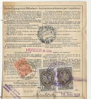 Autriche (Osterreich) - Bulletin D'expédition - WIEN - ZAGREB (Yougoslavie) - 1937 - 1918-1945 1ère République