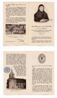 Image Pieuse Relique Jean-Baptiste De Laveyne, étoffe Non Précisée Fondateur Soeurs De La Charité De Nevers Saint-Saulge - Images Religieuses
