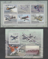 MOZAMBIQUE , 2009, MNH,AVIATION, AIRCRAFT OF WWII, BOMBERS, FIGHTERS, OFFICIAL ISSUE,   SHEETLET + S/SHEET - Concorde