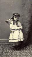 Suisse Vevey Petite Fille En Costume Traditionnel Panier En Osier Ancienne CDV Photo De Jongh 1860's - Alte (vor 1900)