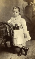 New York Portrait D'une Jeune Fille Enfant Ancienne CDV Photo Benjamin J. Falk 1880's - Old (before 1900)