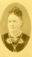 USA Chippewa Falls Portrait De Femme Pub De Photographe Ancienne CDV Photo JB Gallaher & Wife 1880 - Old (before 1900)