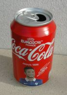 Canette Vide édition Collector Coca Cola Football Euro 2016 Olivier Giroud - Cannettes