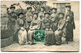 - 71 - Viet-Nam - COCHINCHINE - Saigon - Femme Japonaises Habitant Saigon, écrite 1909, TBE, Scans. - Viêt-Nam