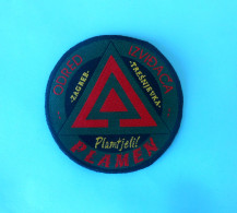 CROATIAN SCOUTS UNION PLAMEN Patch Scouting Boy Scout Scoutisme Escrutinio Pfadfinder Scoutismo Padvinder Ecusson - Scouting