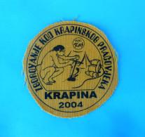 CROATIAN SCOUTS MEETING 2004. Krapina Neanderthal Man Patch Scouting Boy Scout Scoutisme Escrutinio Pfadfinder RADIO KAJ - Scouting