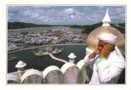 18H :Royal Barge At Brunei Masjid Omar Ali Saifuddin Mosque Postcard2 - Islam